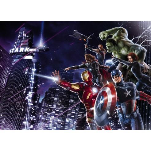 Fototapet Marvel Avengers Citynight...