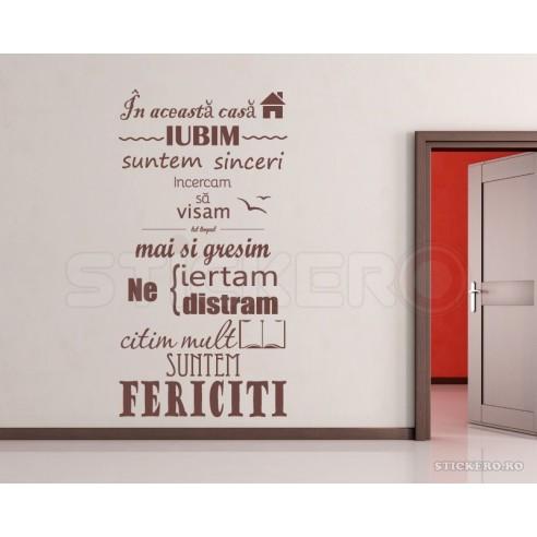 Sticker decorativ de perete - In...