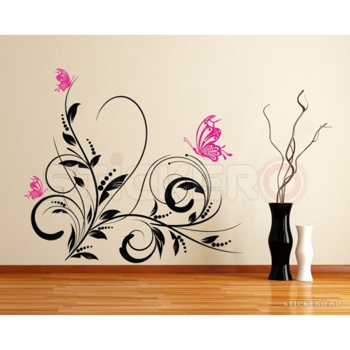 Sticker floral - sticker decorativ de...