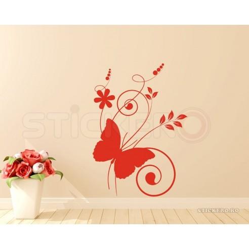 Floare cu fluturas si pasari -...