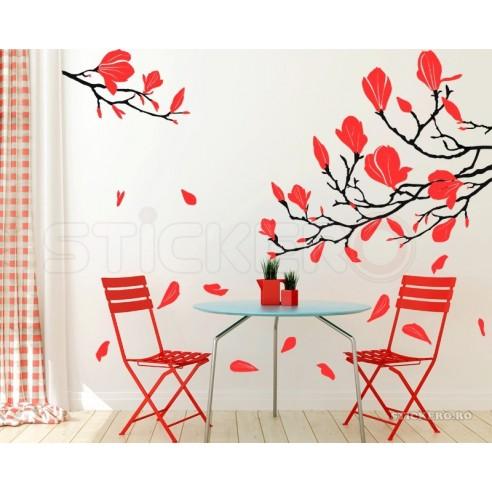 Magnolie - sticker decorativ pentru...
