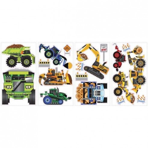 Sticker CONSTRUCTION VEHICLES