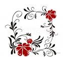 Sticker decorativ Floarea dragostei
