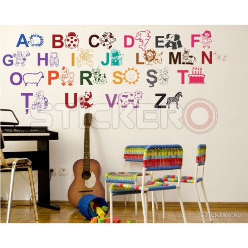 Sticker decorativ Alfabetul Ilustrat