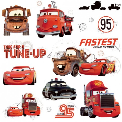 Stickere FRIENDS to the FINISH - CARS