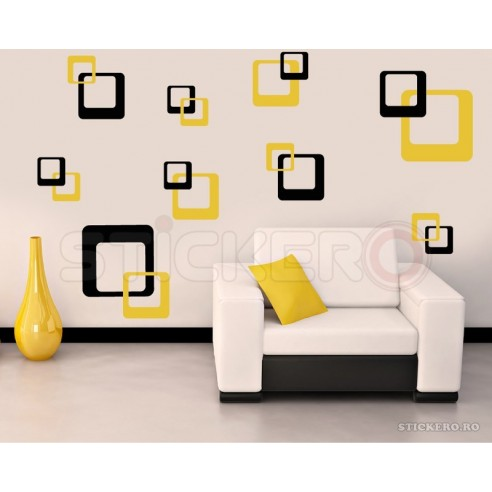 Sticker decorativ Patrate Moderne