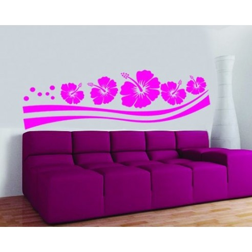 Sticker decorativ Flori pe suport