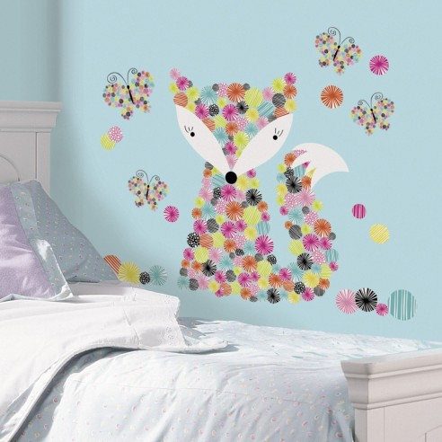 Sticker decorativ PRISMATIC FOX