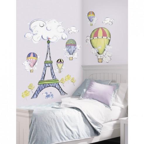 Sticker decorativ SILVER LEAF cu PERLE