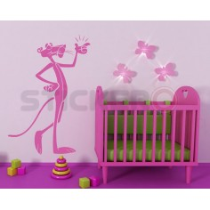 Sticker decorativ Pantera Roz