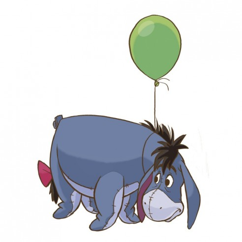 Sticker decorativ EEYORE - WINNIE the...