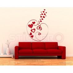 Sticker decorativ Inimi unite