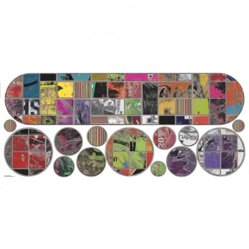 Stickere decorativ SKATEBOAD & CIRCLES
