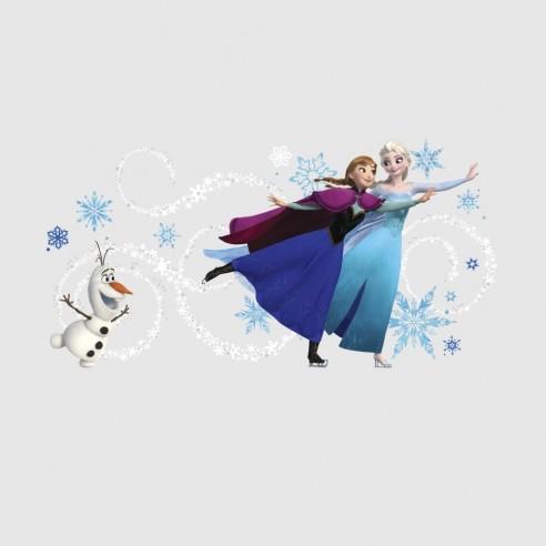 Sticker decorativ ELSA. ANNA si OLAF...