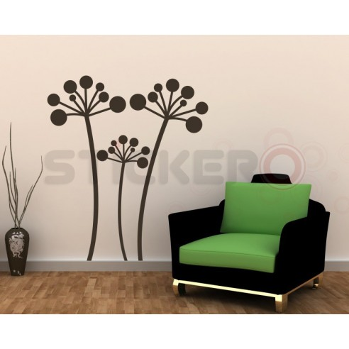 Sticker decorativ Floare de piatra