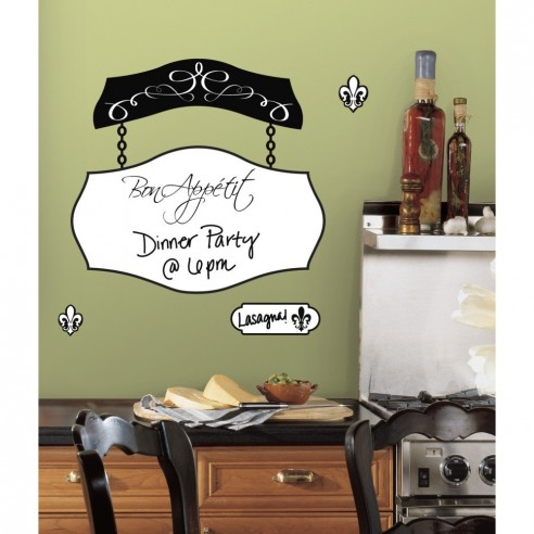 Sticker decorativ BON APPETIT dry erase