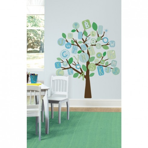 Sticker decorativ ABC TREE