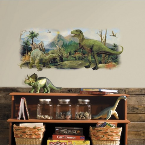 Sticker decorativ DINOSAURS SCENE