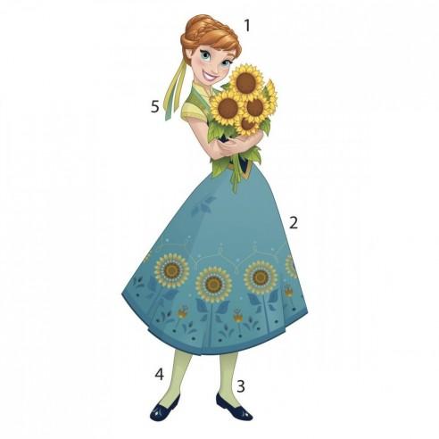 Sticker decorativ Anna - FROZEN FEVER