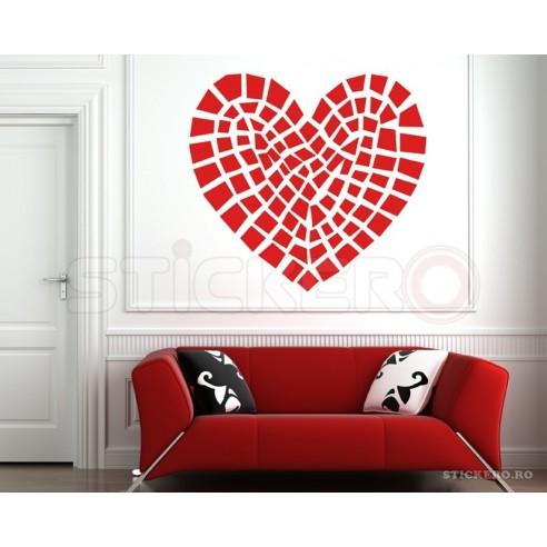 Sticker decorativ Inima de piatra