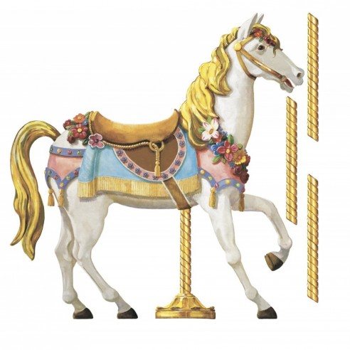 Sticker decorativ CAROUSEL HORSE