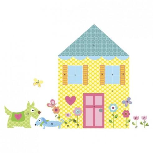 Sticker decorativ BUILD a HOUSE