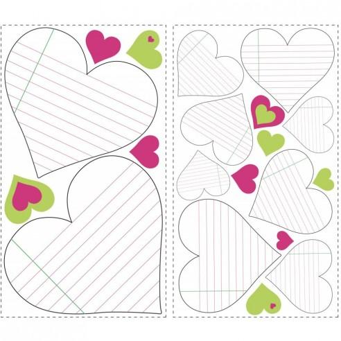 Stickere HEART NOTEPAD dry erase