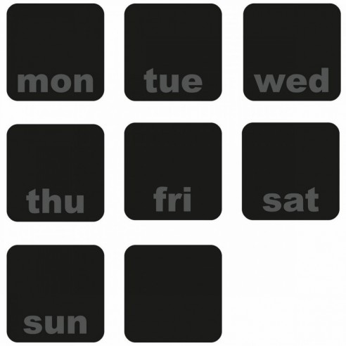 Tabla de scris DAYS OF THE WEEK PLANNER