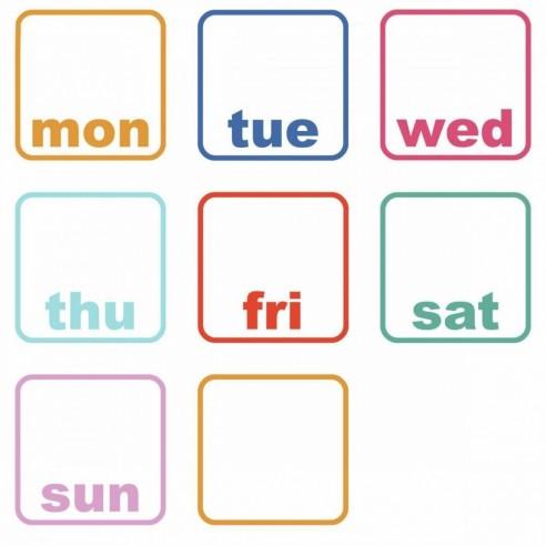 Table de scris Days of the Week Planner