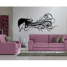 Sticker decorativ Fata cu...