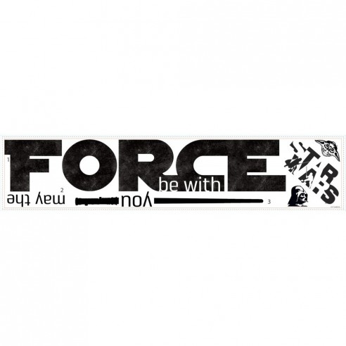 Sticker MAY the FORCE - THE FORCE...