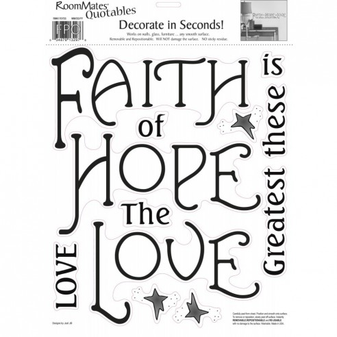 Sticker FAITH. HOPE &amp - LOVE