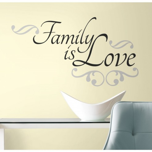 Sticker inspirational FAMILY IS LOVE