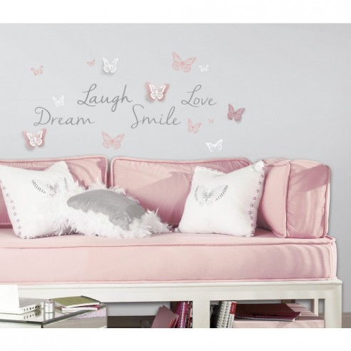 Sticker inspirational 3D BUTTERFLY DREAM