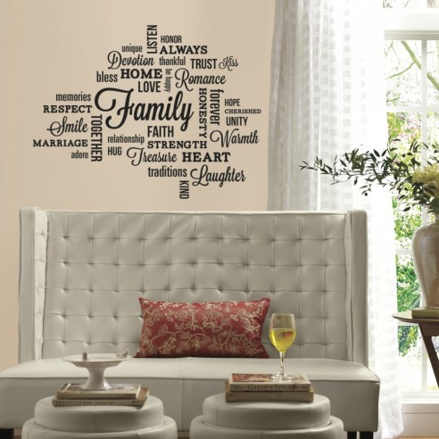 Sticker inspirational FAMILY QUOTE