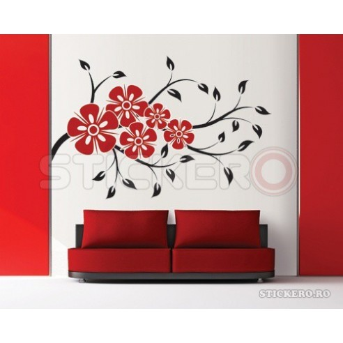 Sticker decorativ Buchet