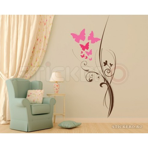 Sticker decorativ Floarea Fluturilor