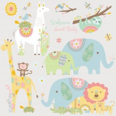 Sticker TRIBAL BABY ANIMALS