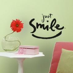 Sticker decorativ JUST SMILE