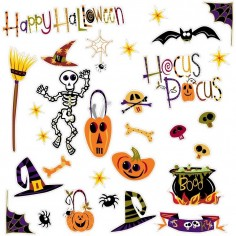 Sticker haloween HAPPY...