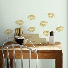 Sticker LIPS cu sclipici