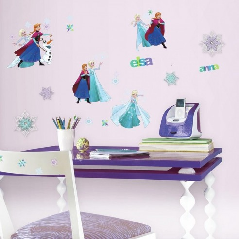 Sticker decorativ ELSA. ANNA si OLAF - FROZEN