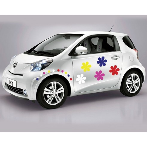 Sticker auto Floricele colorate
