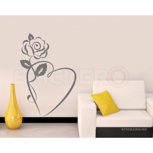 Sticker decorativ Floarea Inimii