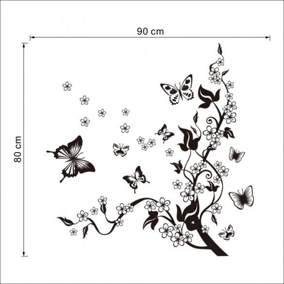 Copacelul cu floricele - Autocolant decorativ pentru copii