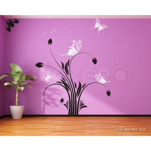 Sticker decorativ Floare de mac