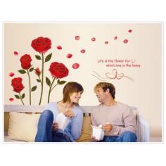 Sticker Florale Rosii
