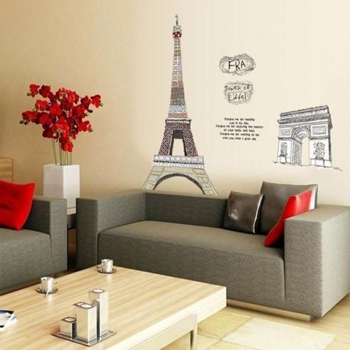 Sticker Turnul Eiffel si Arcul de Triumf