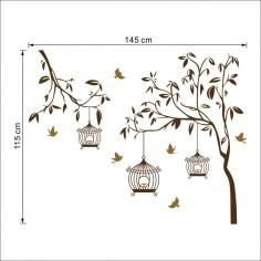 Sticker Copacel cu colivii
