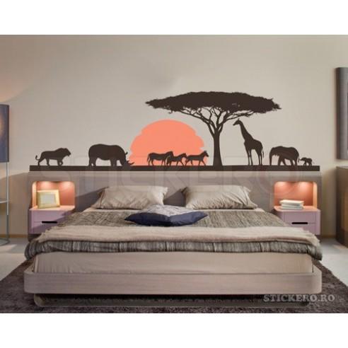 Sticker de perete Peisaj African